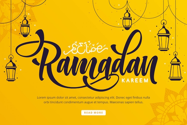 Рамадан карим надпись фон Premium векторы