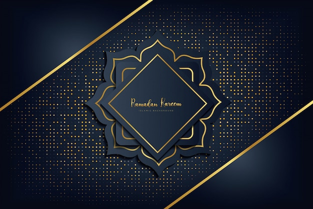 Ramadan kareem luxury background. Premium Vector