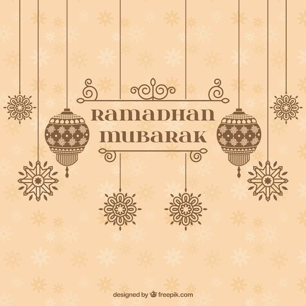 ramadan mubarak vintage background vector free download