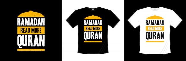 ラマダン続きを読むコーランのタイポグラフィtシャツデザイン Premiumベクター
