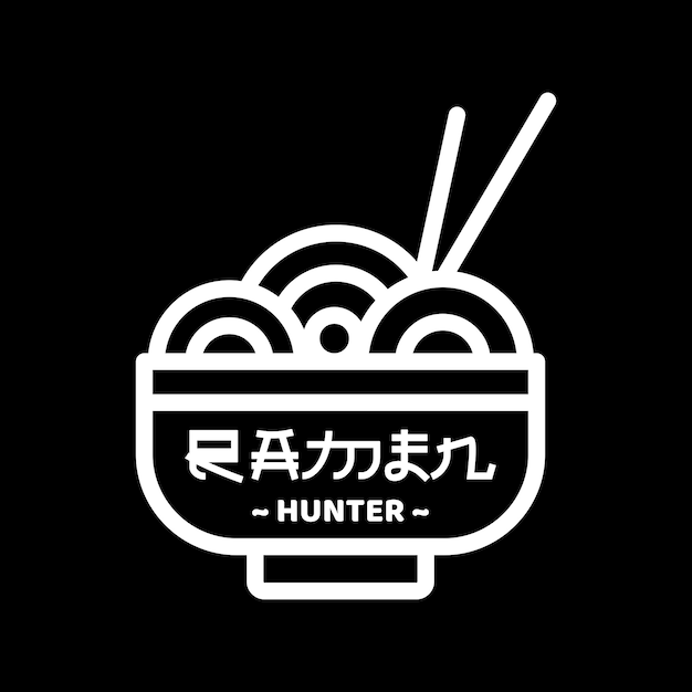 Ramen hunter Premium Vector