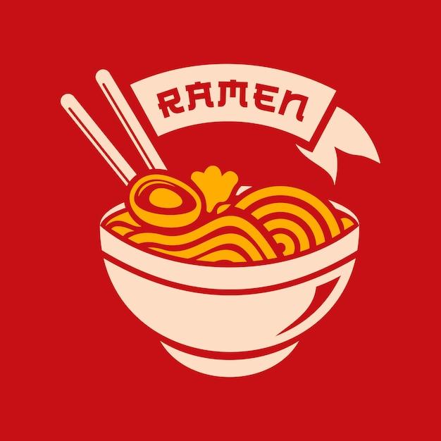 Ramen illustration Premium Vector