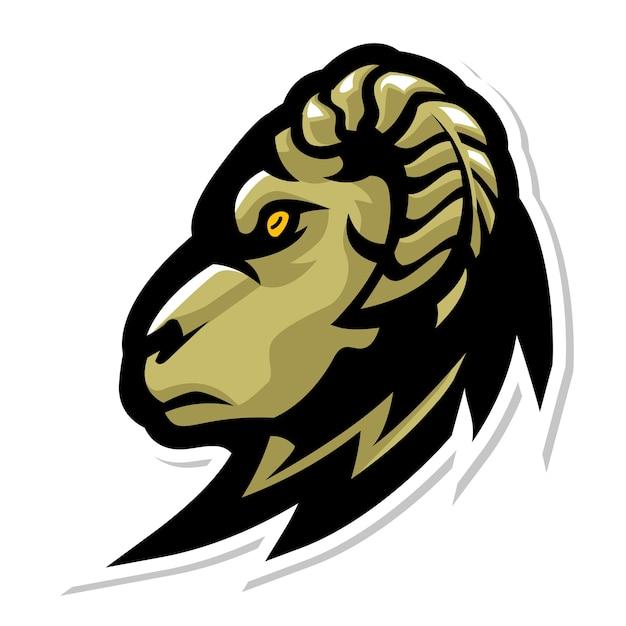 Дизайн логотипа козла головы Premium векторы