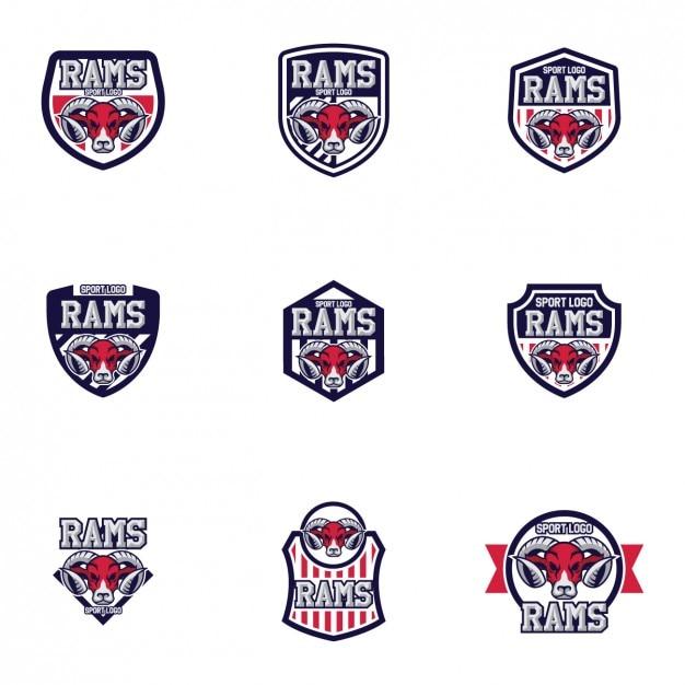 rams logo templates design vector free download