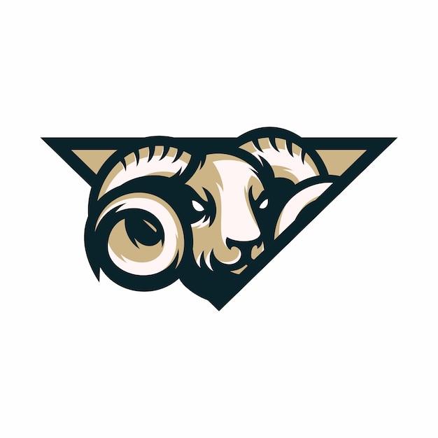 Баранов - векторный значок иллюстрации талисман Premium векторы