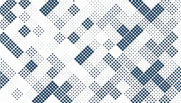 임의의 사각형 하프 톤 패턴 무료 벡터