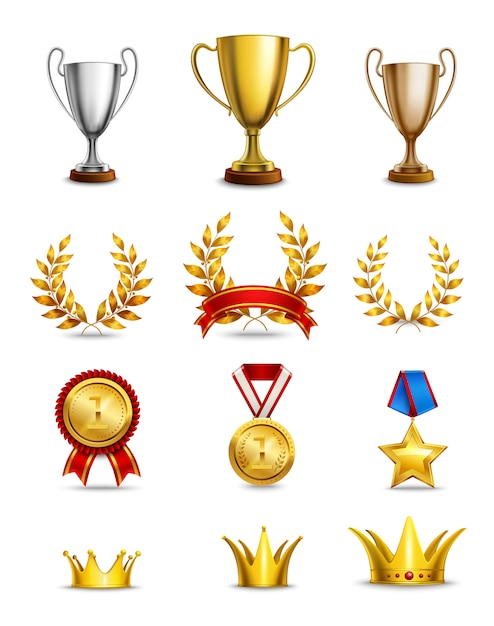 Ranking icons set Free Vector