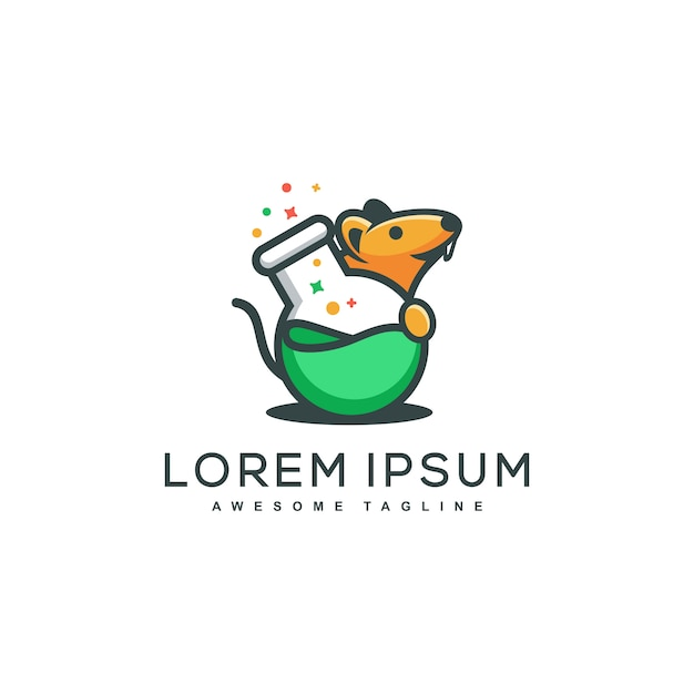 Rat lab concept illustration vector template Premium Vector