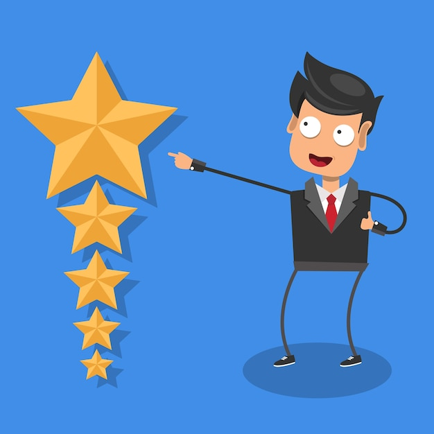 Rating on customer service illustration Premium Vector