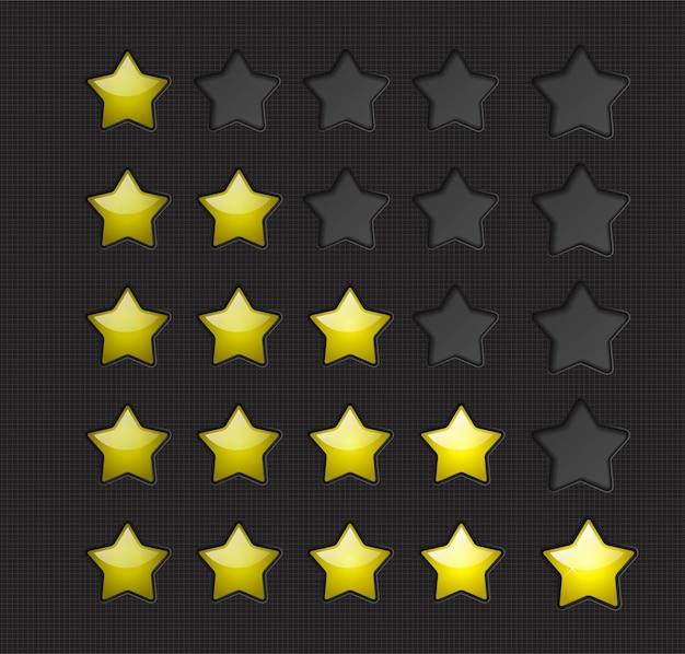 Rating stars Premium Vector