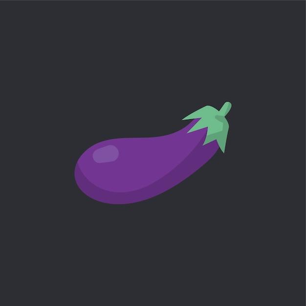 Raw organic eggplant food vector Free Vector