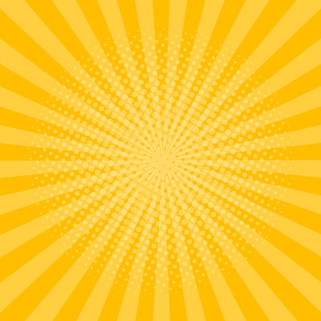 Rays background with halftone effect Premium Vector