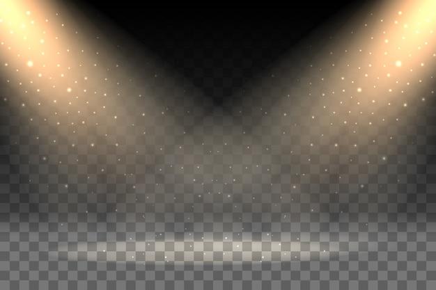 Rays on transparent background Premium Vector
