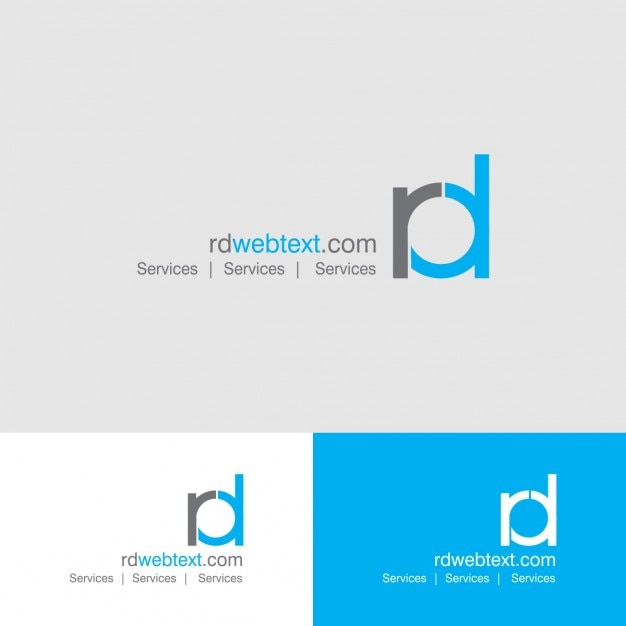 rd letters logo vector free download