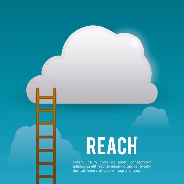 Reach digital design  Vector | Premium Download