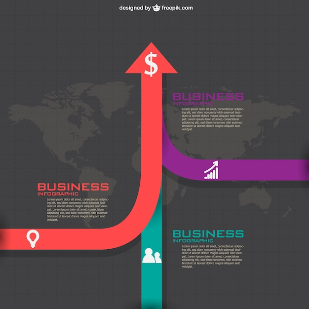 Reaching for success infographic Free Vector