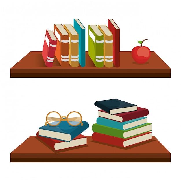 Read books  design Free Vector