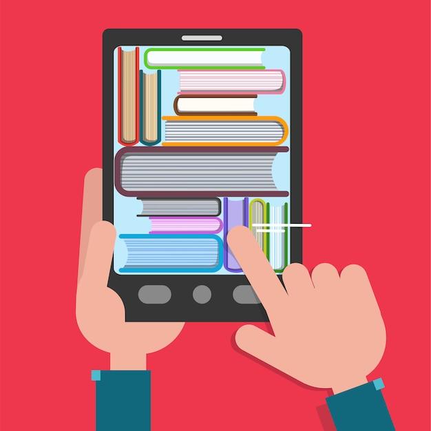 Reading books Premium Vector
