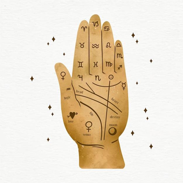 Lettura dei segni zodiacali futuri Vettore gratuito