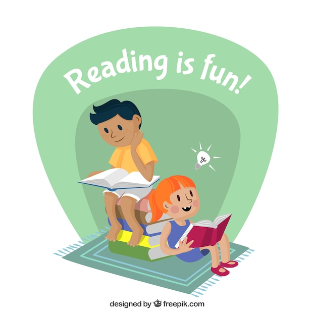 Reading is fun Free Vector
