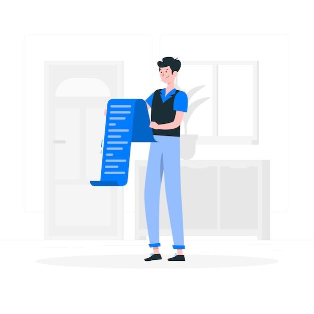 Reading list concept illustration Free Vector