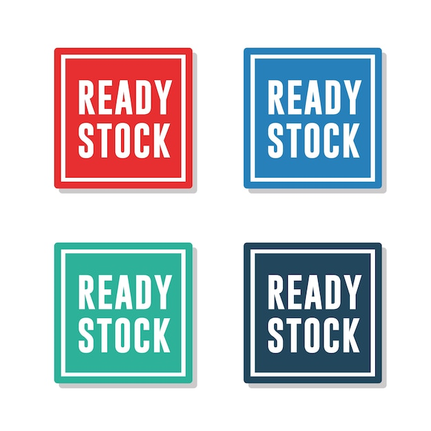 Ready stock labels Vector