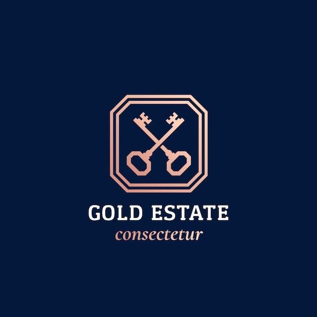 不動産の抽象的なサインまたはロゴ Premiumベクター