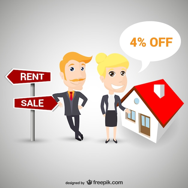 Real estate agents Free Vector