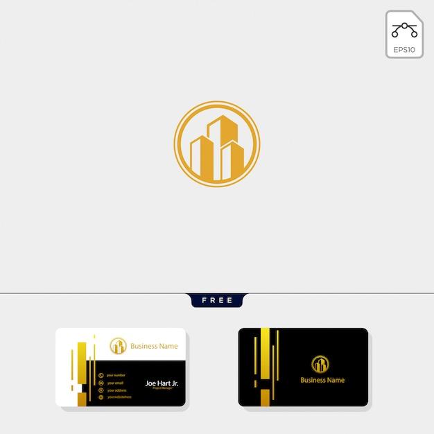 Real estate building creative logo template Premium Vector