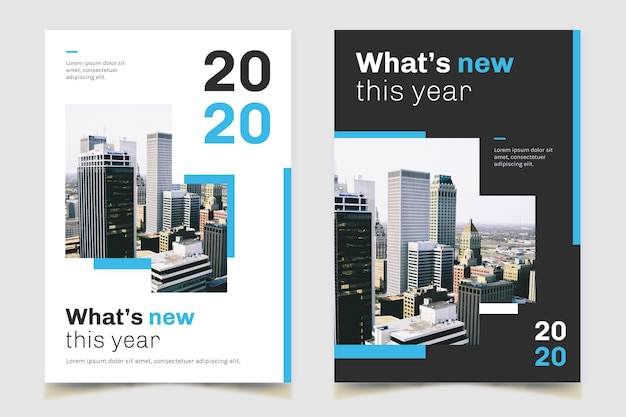 Недвижимость бизнес плакат городской панорамный Бесплатные векторы