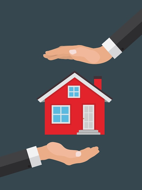 Real estate concept.  buy house. Premium Vector