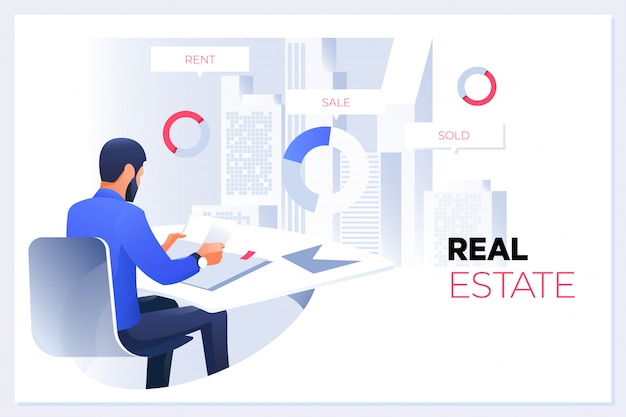 Real estate concept Premium Vector