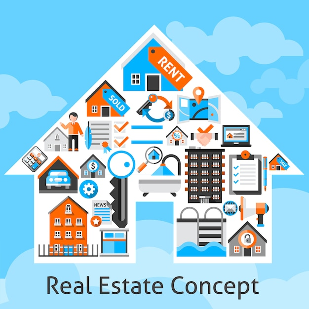 Real estate concept Free Vector