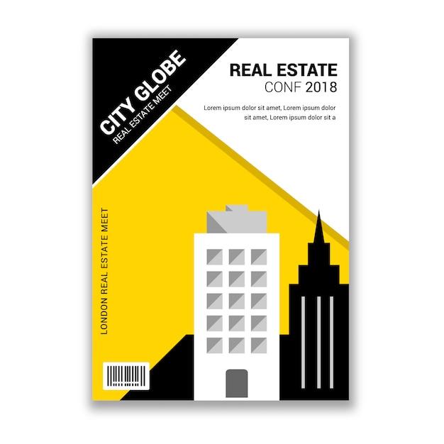 real estate conference meetup invitation flyer vector premium download