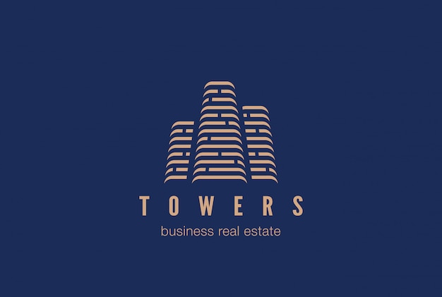 Real estate constructionlogo icon. Premium Vector