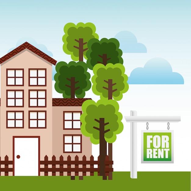 Real estate design Free Vector