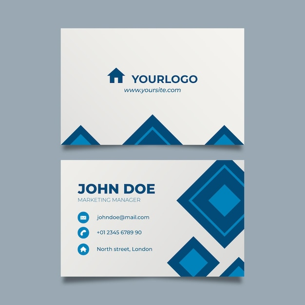 Real estate double sided business card Free Vector