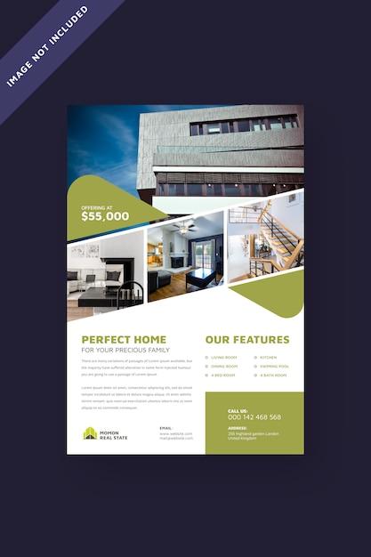 real estate flyer brochure template vector