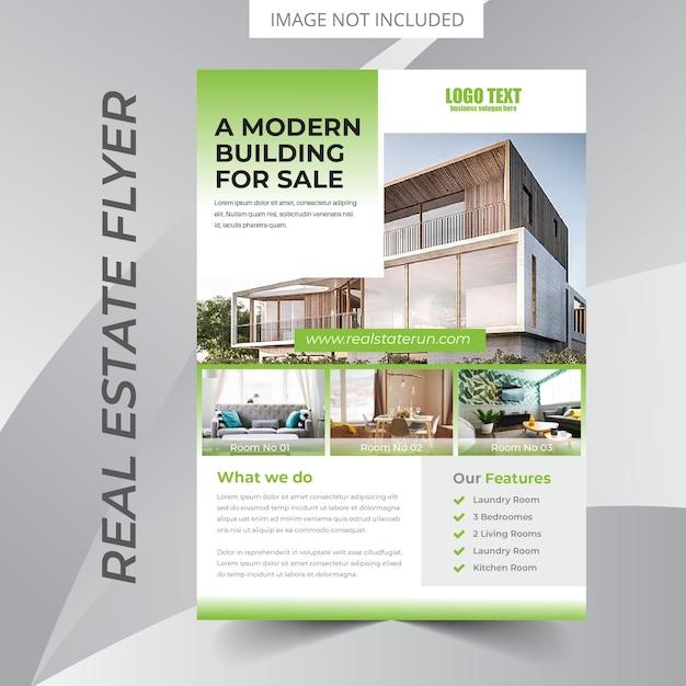 Real estate flyer design Premium Vector