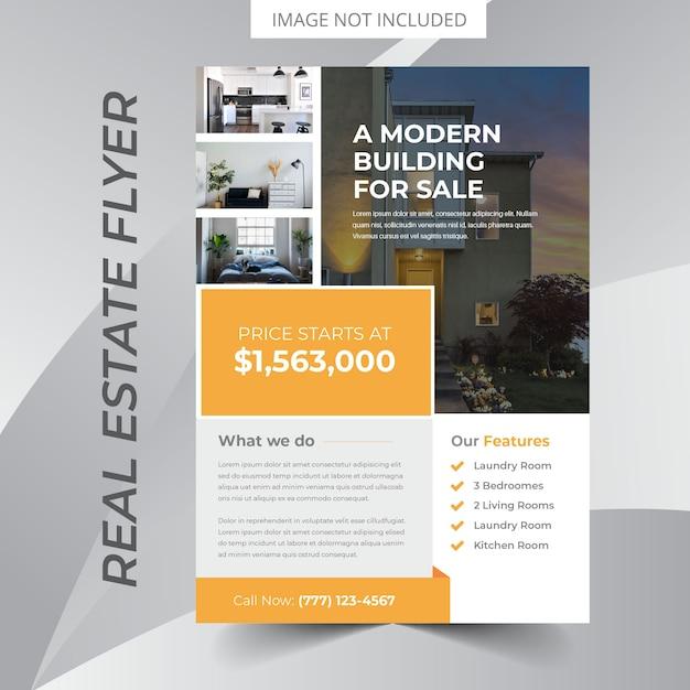 real estate flyer design vector premium download