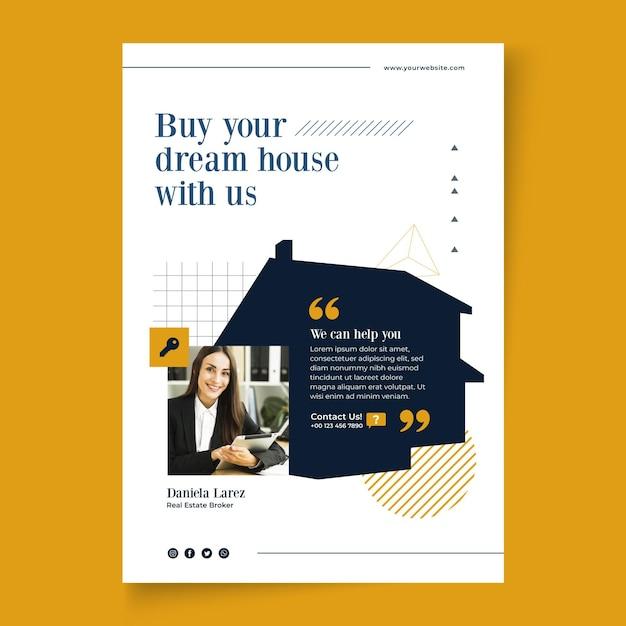 Modello di volantino immobiliare Vettore gratuito