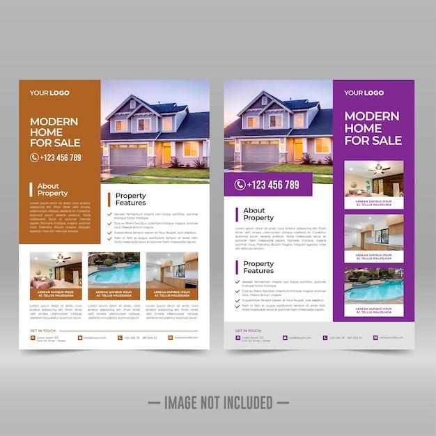 Шаблон флаера по недвижимости Premium векторы