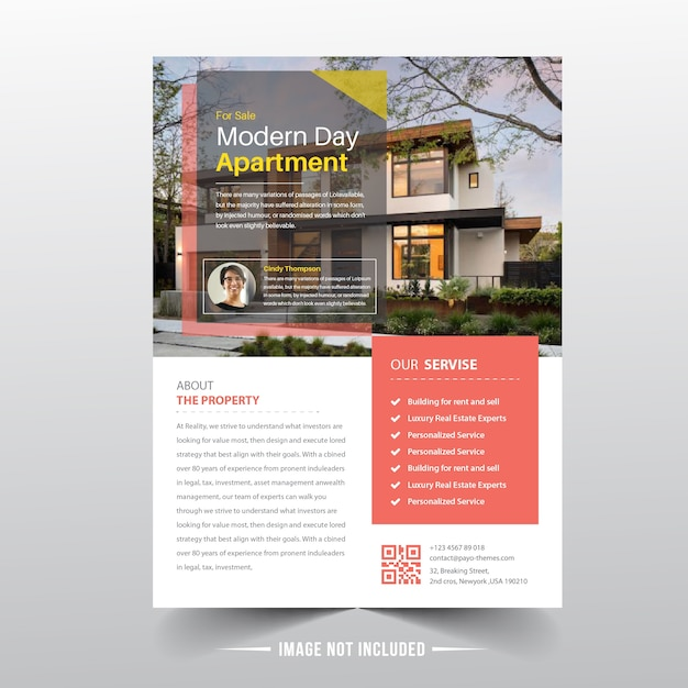 Real estate flyer templates Premium Vector
