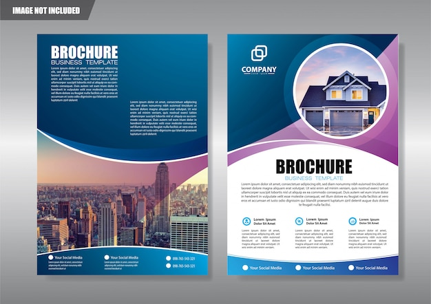 Real estate flyer with geometric shape Premium Vector