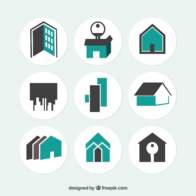 Real Estate Icon : Real estate icons vector free download