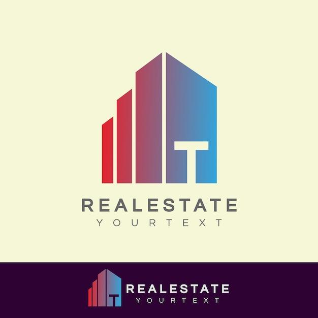 d19940c2f Real estate initial letter t logo design Vector   Premium Download