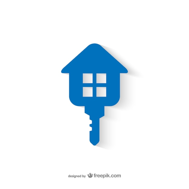 real estate key logo vector free download