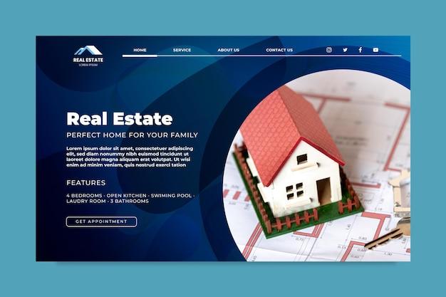Modello di pagina di destinazione immobiliare Vettore gratuito