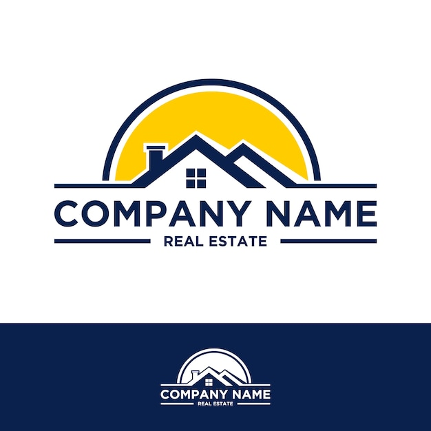 Real estate logo design Premium Vector