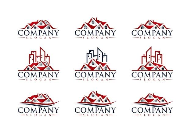 Real estate logo design Premium Vector